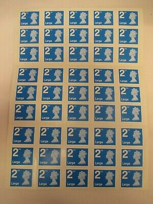 NEW - Royal Mail 2nd Class Large Letter Postage Stamps. Self Adhesive.