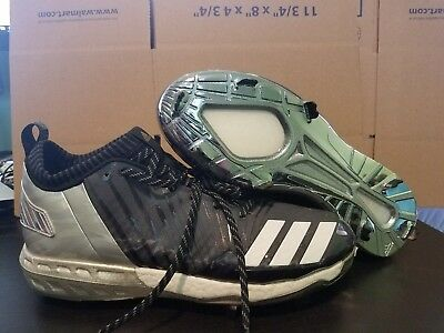 huge discount bcfdf e75e0 Adidas Boost Icon 3.0 Faded Metal Baseball Cleats Black Silver SZ 11.5.  (BY3684