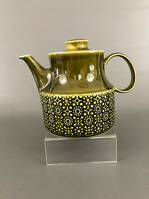 Celtic Connemara fine irish earthenware Mid-Century Modern teapot, green