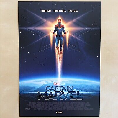 Captain Marvel A4 Poster - Avengers Cinema Movie Film Odeon Collectable