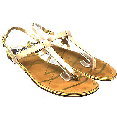 f3b4bbf45c2 Sam   Libby Women s Sandals Size Us 10 Eur 41 Brown Leather Buckle Flat T