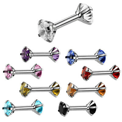 Tragus Bars Earrings Ring Stud Piercing Surgical Steel Nipple Tongue Bar Barbell