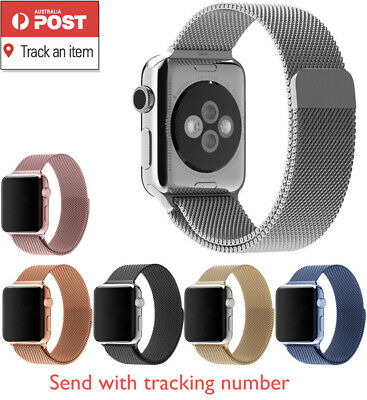 Milanese Magnetic Stainless Steel Strap Band for Apple Watch Series 4 / 3 / 2 /1