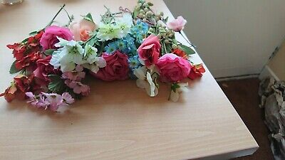 Selection of fabric artificial flowers