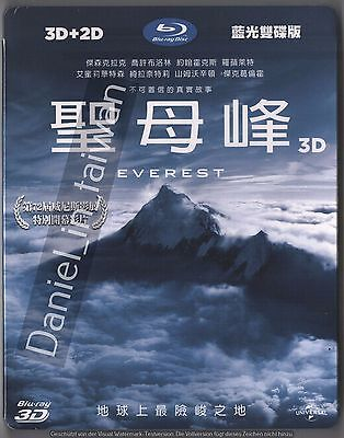 Everest (2015) Movie / TAIWAN 3D & 2D BLU RAY + SLIPCOVER