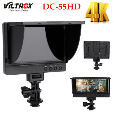 "VILTROX DC-55HD 5.5"" 4K HDMI IPS Screen 1080P Full HD Monitor +Sunshade for DSLR"