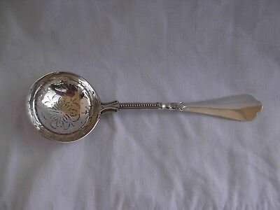 ANTIQUE FRENCH STERLING SILVER SUGAR SIFTER SPOON,LATE 19th CENTURY.