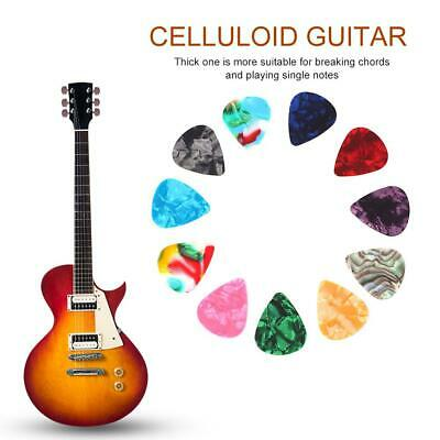 10/20/50x Acoustic Electric Guitar Celluloid Picks Plectrums 0.46/0.7mm Colorful