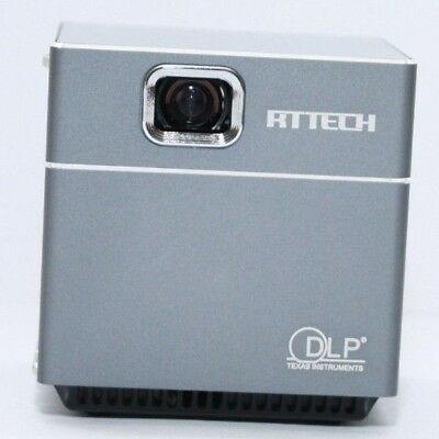 RtTech S6 Portable Mini Pico DLP Projector 30000 Hour LED Light 120 inch Display