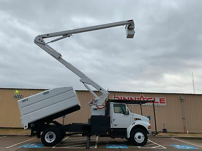 2003 Diesel Sterling Acterra Chipper Truck With 60' Boom And Dump Bed Tree Truck