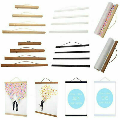 DIY Magnet Wood Wooden Poster Frame Painting Scroll Nordic Photo Picture Hanger