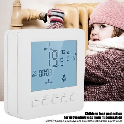 Digital Heating Programmable Thermostat Temperature Controller LCD Screen 5A