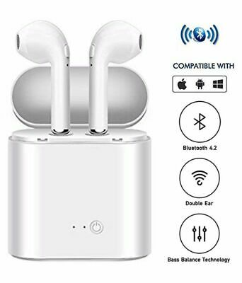 Twins Wireless Earphone White Bluetooth Sports Earbud Headphones Sweatproof TWS