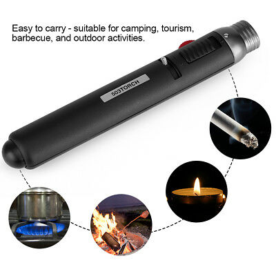 Windproof Welding Soldering Gun Refillable Butane Gas Blow Torch Lighter BBQ