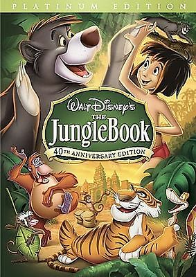 The Jungle Book (DVD, 2007, 2-Disc Set, 40th Anniversary Edition)  in case!