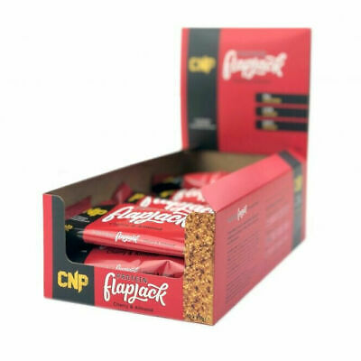 New CNP High Protein Flapjack Bars Low Sugar Rolled Oats Bars 12 X 75g Box