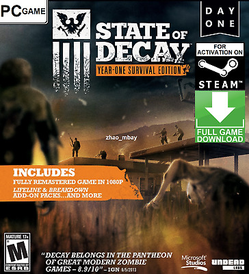 State of Decay Year One Survival Edition (YOSE) PC Steam Key [NO CD/DVD]FastSent