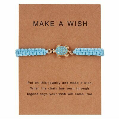 Adjustable Infinity Turquoise Turtle Bracelet Make A Wish Women Fashion Jewelry