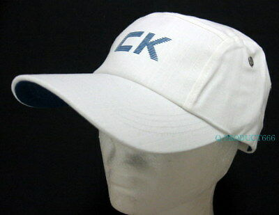 2ae7587eade CK Calvin Klein BaseBall Cap Ball Hat Military NWT One Size C.K. White  cotton