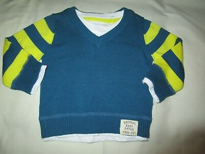 Baby Boys Pumpkin Patch stripe Jumper Size 00 for 3-6mths