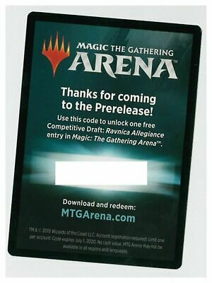 Magic: The Gathering Arena RAVNICA ALLEGIANCE Prerelease Competitive Draft Code