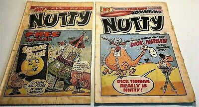 NUTTY # 1 + 2 February 16th + 23rd February 1980 first Bananaman