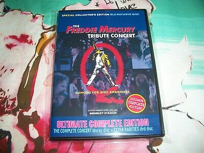 Queen The Freddy Mercury Tribute Concert Bluray + Dvd Ultimate Edition