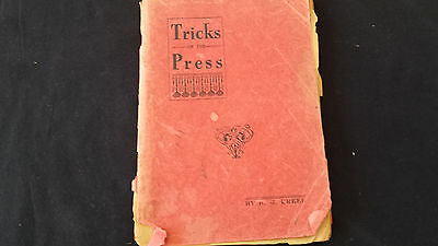 1911 Tricks of the Press; A Lecture by Herr Glessner Creel Book