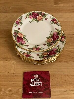 Royal Albert Old Country Roses Set of 6 Dessert  Plates, England,1962