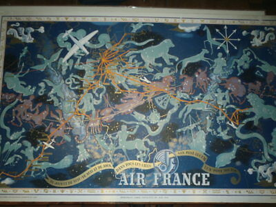 original planisphère Air France 1938-1939 Lucier Boucher