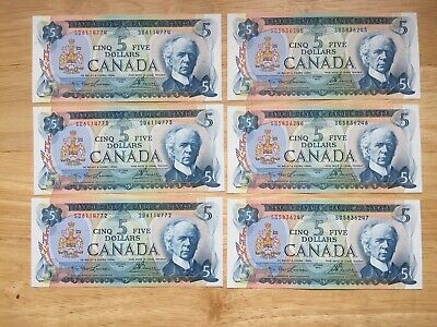 1972 $5 Lawson/Bouey UNCIRCULATED Look at Pictures