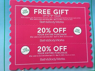 3 Bath And Body Works Coupons 20% Off & Gift