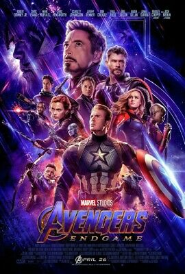 "Avengers Endgame Movie Poster 48x32"" 36x24"" 21x14 New 2019 End Game Silk"