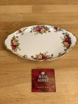 Royal Albert Old Country Roses Oval Tray, England,2nd Quality, 1962