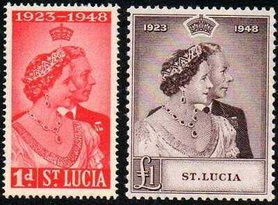 SoD St Lucia 1948 Silver Wedding set MNH unmounted mint