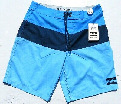 a70d53e06b208 NEW Mens Billabong Tribong 3 TONE Blue Drawstring Board Shorts Swim Trunks  32
