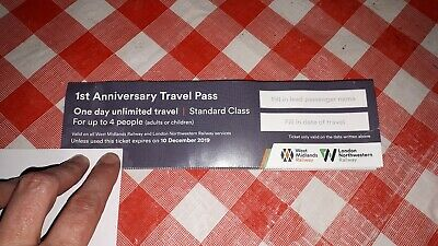 Free Rail Travel Pass For Up To 4 People