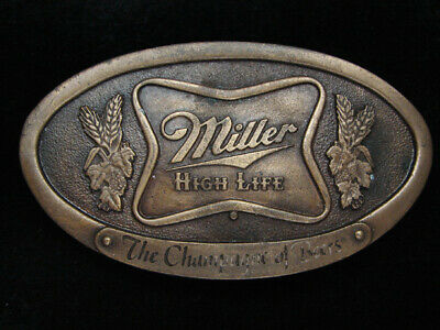 Pf05162 Vintage 1975 **Miller High Life The Champagne Of Beers** Belt Buckle