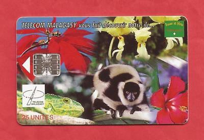 MADAGASKAR - WILDLIFE & FLOWERS  CHIP Telefonkarte  03/99  R