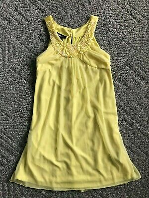 f91faef092d I.N. Girl Dillard s Sleeveless Easter Spring Party Dress Size 14 Yellow  Pearls