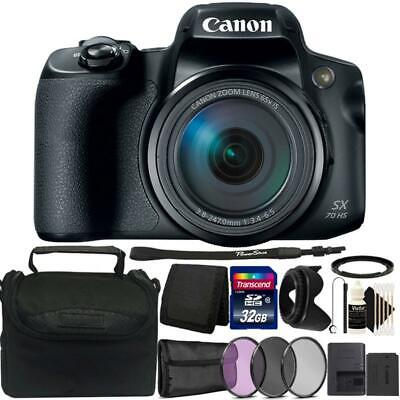 Canon Powershot SX70 HS 20.3MP Digital Camera with 32GB Deluxe Accessory Bundle