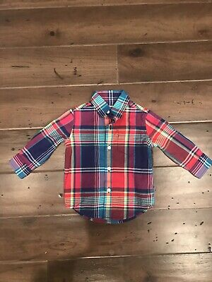 Janie And Jack Baby Boy Plaid Button Down Shirt 6-12 Month