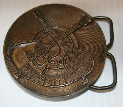 Vintage 1974 **Music City Usa** (Nashville) Belt Buckle