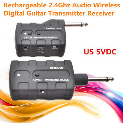 2.4Ghz Guitar Rechargeable Audio Wireless Digital Transmitter Receiver Cable Set