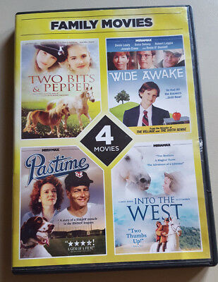 4 Family Movies - Two Bits & Pepper; Wide Awake; Pastime; Into the West DVD 2012