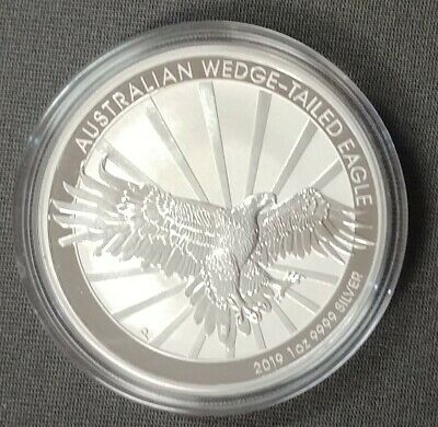 2019-P Australia 1 oz Silver Wedge-Tailed Eagle Coin GEM BU Coin Beautiful *NR*