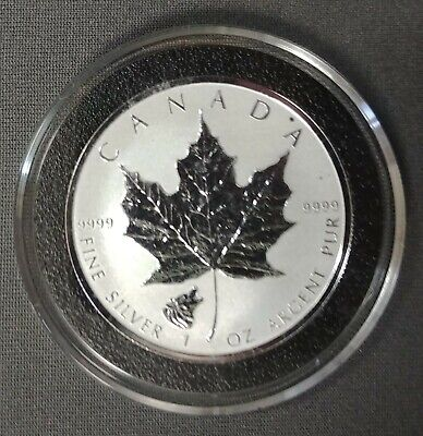 """2016 Silver $5 Maple """"WOLF"""" Privy .9999 1 oz Reverse Proof - *ONLY 50,000 Mint*"""