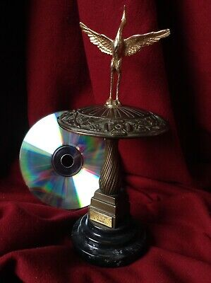 Antique Italy Romanelli Bronze Sculpture Statue Art Deco Heron Bird Mushroom Old