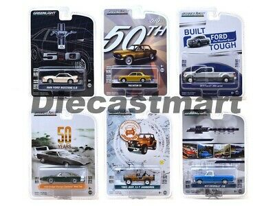 Greenlight 1:64 Anniversary Collection Series 7 Diecast Car Set of 6 27970 New