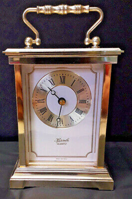 Hermle quartz mantel clock Marked West Germany height 12.5cm